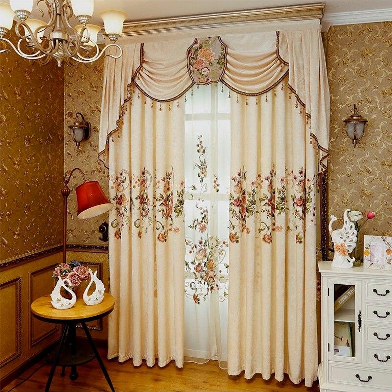 Cortinas de lujo para Salón Comedor Dormitorio 1 unid Tul cortina