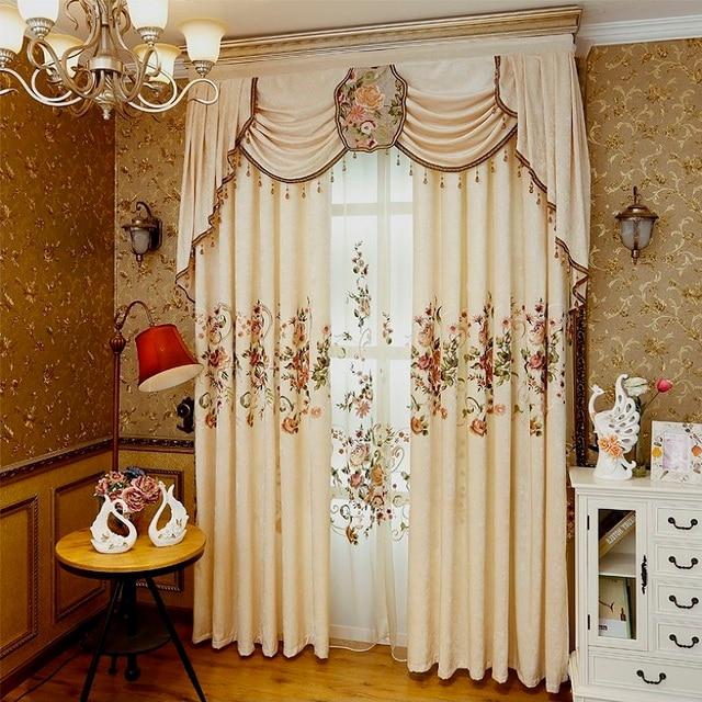 Tende per soggiorno sala da pranzo camera da letto di lusso 1 pz tenda 1 pz tulle di alta - Tende per sala da pranzo ...