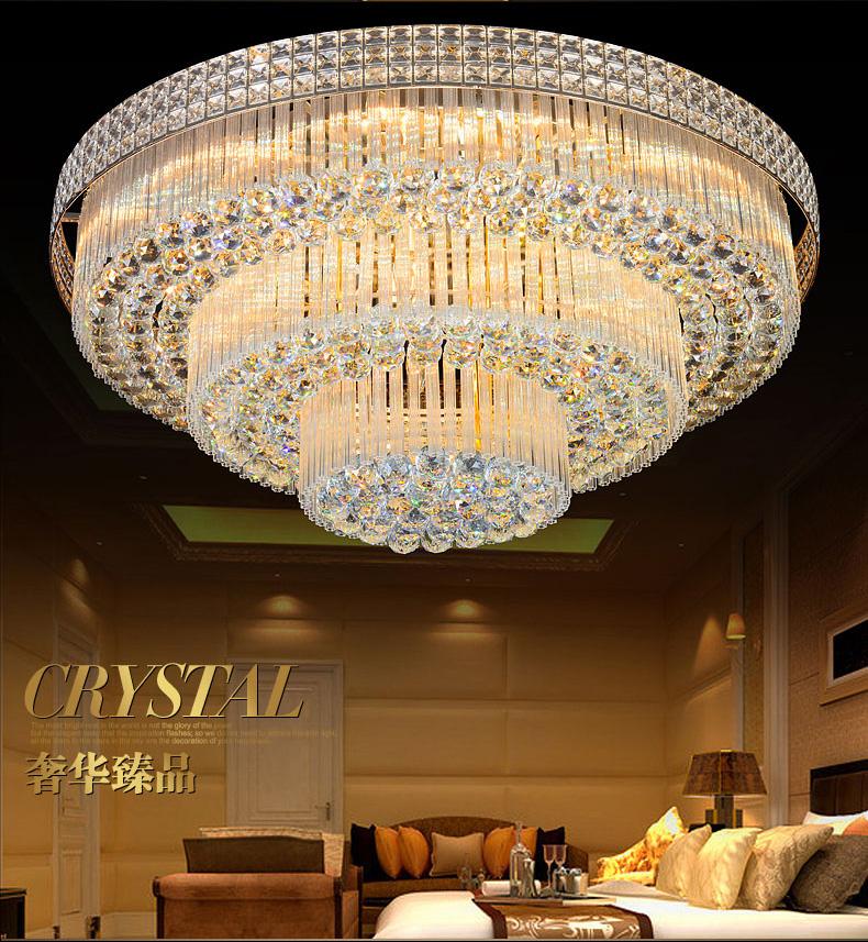 Luxus LED Kristall Lampen Wohnzimmer Deckenleuchten Atmosphre Lampe Runde Beleuchtung Grosse Led