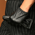 Men's Genuine Lambskin Leather Driving Gloves Silk Lined  Black Brown M L XL New