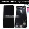 Matte Black Housing Assembly for iphone 6 6s 6Plus 6s Plus back housing Complete battery door like 7 style jet black assembly