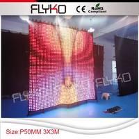 P5 3x3 м полноцветного декоративные светодиодные индикаторы занавес свет Flightcase пакета