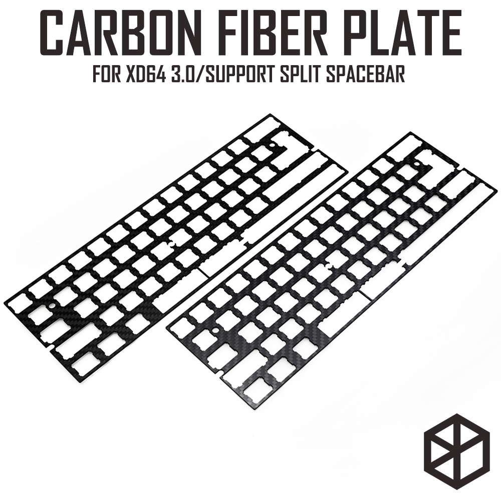 60% Aluminum Mechanical Keyboard Carbon Fiber Plate Support Xd60 Xd64 3.0 V3.0 Gh60 Support Split Spacebar 3u Spacebar