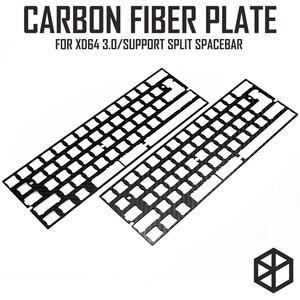 Image 1 - 60% Aluminum Mechanical Keyboard carbon fiber plate support xd60 xd64 3.0 v3.0 gh60 support split spacebar 3u spacebar