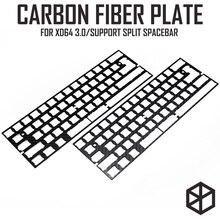 60% di Alluminio Della Tastiera Meccanica piastra in fibra di carbonio supporto xd60 xd64 3.0 v3.0 gh60 supporto split barra spaziatrice 3u barra spaziatrice