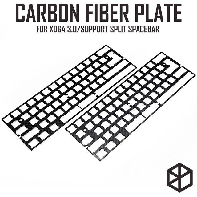 60% アルミメカニカルキーボード炭素繊維プレートサポート xd60 xd64 3.0 v3.0 gh60 サポート分割スペースバー 3u スペースバー