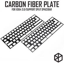 Clavier mécanique en fibre de carbone en aluminium de 60%, support xd60 xd64 3.0 v3.0 gh60, pour barre despace fendue 3u