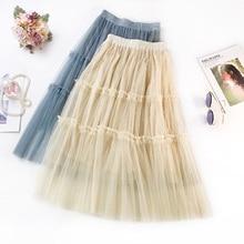 2019 Spring and Summer New Hot Selling Mesh Ladies Temperament Bead  Sweet Skirt Splice