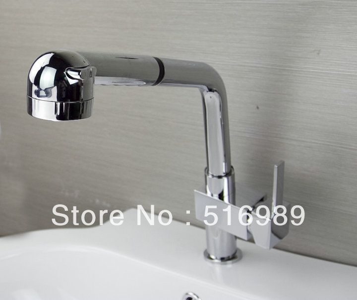 Good Chrome Fashion newly Kitchen Pull Out Faucet Tap sam86