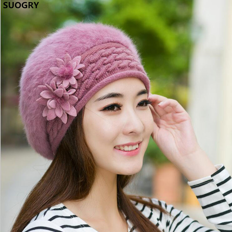 2016 Beanies Women's Winter Hats For Women Knitted Bonnet Caps Winter Women's Hats Brand Ski Wool Fur Sports Beanie Skullies Hat