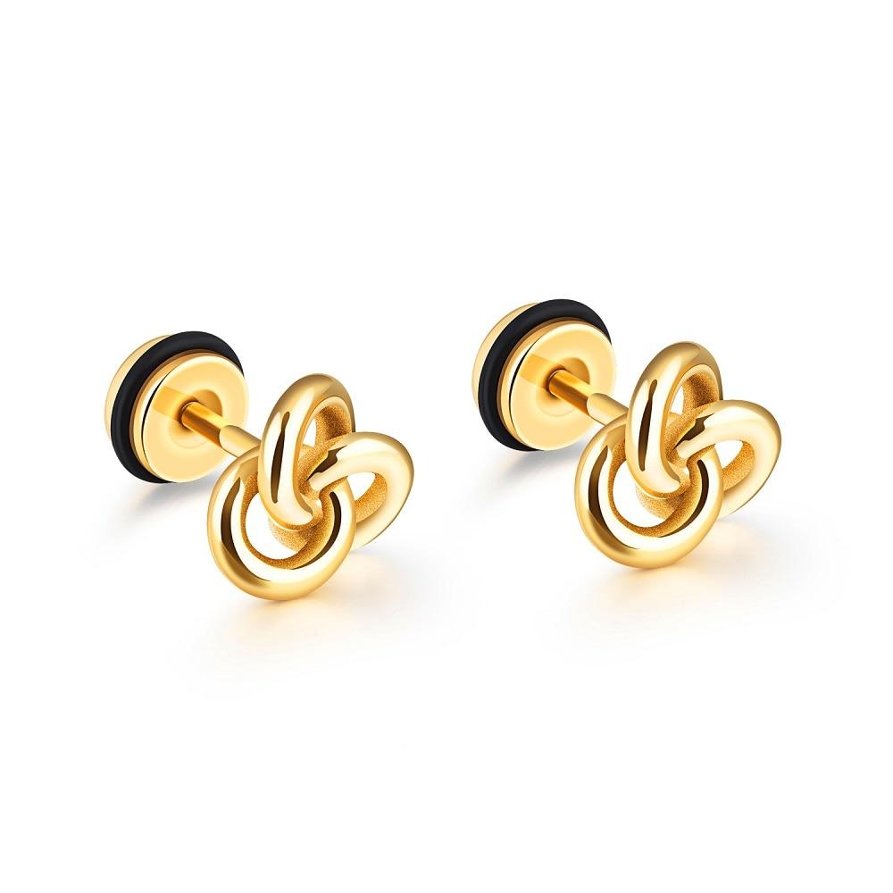 Fate Love Brand Uni Women Men Stud Earrings Boy Male Female Fashion Jewelry Black Gold Color 316l Stainless Steel In From