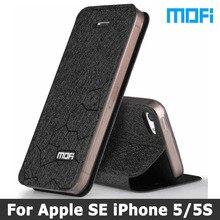 Для iPhone 5S чехол оригинальный бренд Mofi Для iPhone SE чехол-подставка Holde Флип кожаный чехол + ТПУ мягкий чехол для iPhone 5 SE случаях
