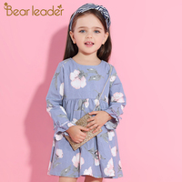 Bear Leader Girl Dress 2016 Brand Princess Dresses Girls Clothes Watermelon Print T Shirt Floral Braces