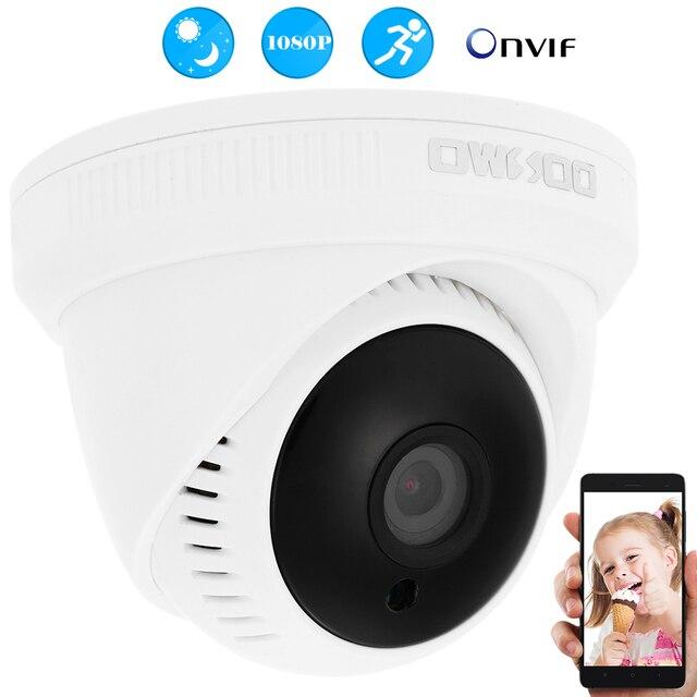 """Owsoo Провода HD 1080 P IP Камера 1/2. 7 """"CMOS 24 шт. светодиоды ночной вид 2.0mp видеонаблюдения безопасности сети купольную Камера"""