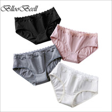 BllooBeell Womens Cotton Underwear Briefs Girls Panties for Women Sexy Lace Pants Mid Low-Rise Ladies Lingerie Comfortable Cute