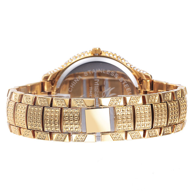 Miss Fox Hot Leopard Watch Fashion Female Golden Clock Charms Full Diamond Brand Gold Watch Women Wrist Business Quartz Watches