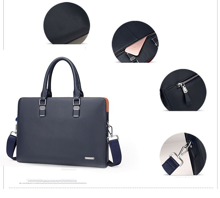HTB1IMelbhSYBuNjSsphq6zGvVXaK Wholesale Genuine Leather Men Briefcases Brand Fashion Men's Crossbody Bags High Quality Male Messenger Bags 2019 New arrival