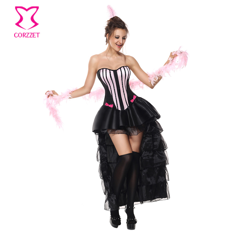 1c72a26bb2d86 Pink Black Halloween Cosplay Costume Carnival Party Performance ...