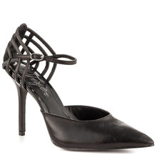 Black Soft Leather Two Piece Pointed Toe Mature Sexy Ladies Pump Shoes Made-to-order Plus Size Shoes Women Chaussures Femmes