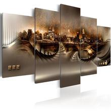 5 панельные настенные художественные постеры с ночным видением