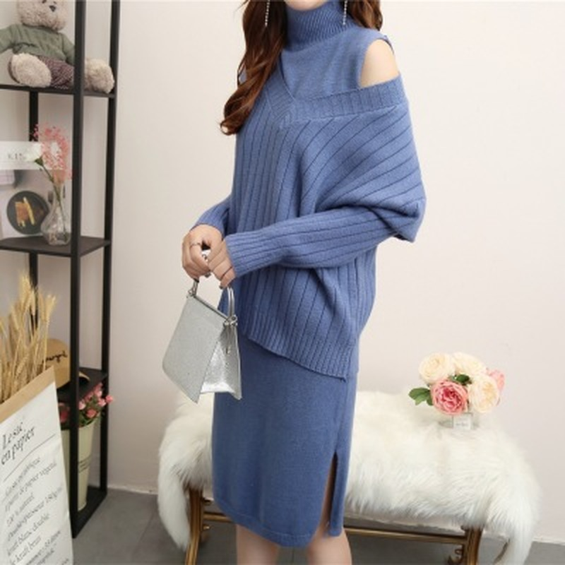 2PCS/Set High Neck Knitted Maternity Sweaters Dress 2018 Autumn Winter Fashion Clothes for Pregnant Women Warm Pregnancy Outfit2PCS/Set High Neck Knitted Maternity Sweaters Dress 2018 Autumn Winter Fashion Clothes for Pregnant Women Warm Pregnancy Outfit