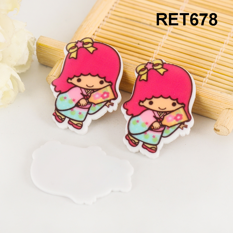 Japanese cartoon character planar resin flatback 36*28MM 50pcs RET678
