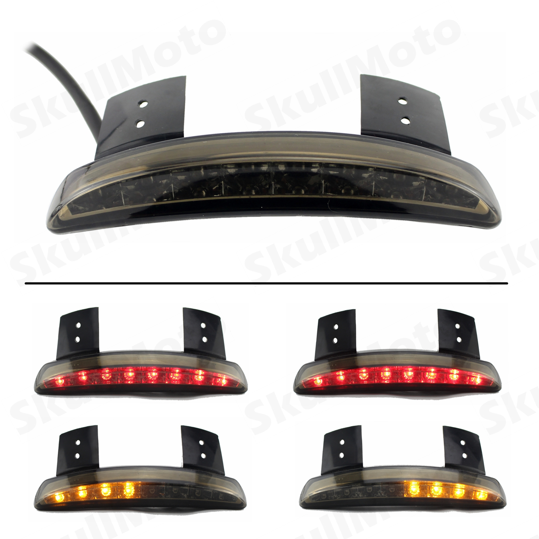 Responsible Brand New Free Shipping Clear Lens Rear Fender Edge Led Tail Light Fits For Harle Davidson Iron 883 Xl883n Xl1200n Chopped Street Price Back To Search Resultshome