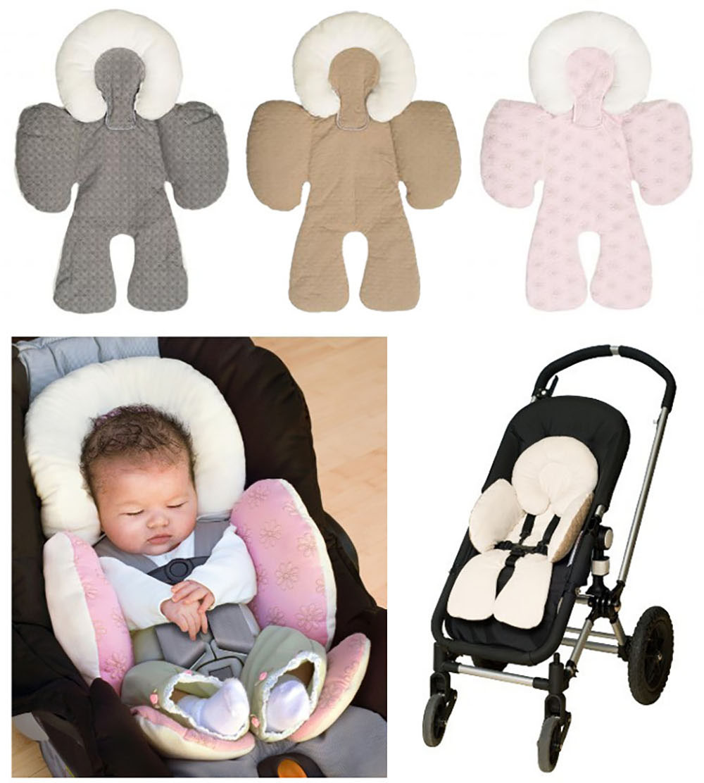 Baby Stroller Cushion Car Seat Pad Mat Infant Car Pillow Head Body Support Carriage Dual Sided Use Head Body Support Seat Pillow