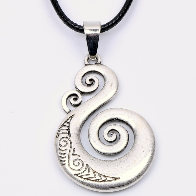 Traditional Maori Koru Necklace Pendant Love Symbol Amulet Double