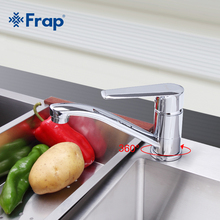 Frap Chrome Finished Kitchen Faucet Cold and Hot Water Mixer Tap Single Handle Torneira Cozinha 360 Degree Rotation F4584 F4984