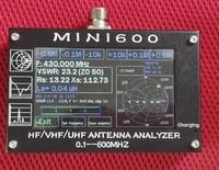 2018 Mini600 4,3 сенсорный экран ЖК дисплей 600 мГц 0,1 HF/VHF/UHF ANT КСВ телевизионные антенны Анализатор метр В usb 5 В мощность