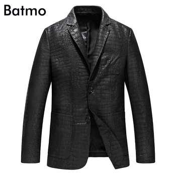 Batmo 2019 new arrival spring high quality sheepskin real leather jackets men ,slim leather blazer men size L-4XL  YXG4201A - DISCOUNT ITEM  40% OFF All Category