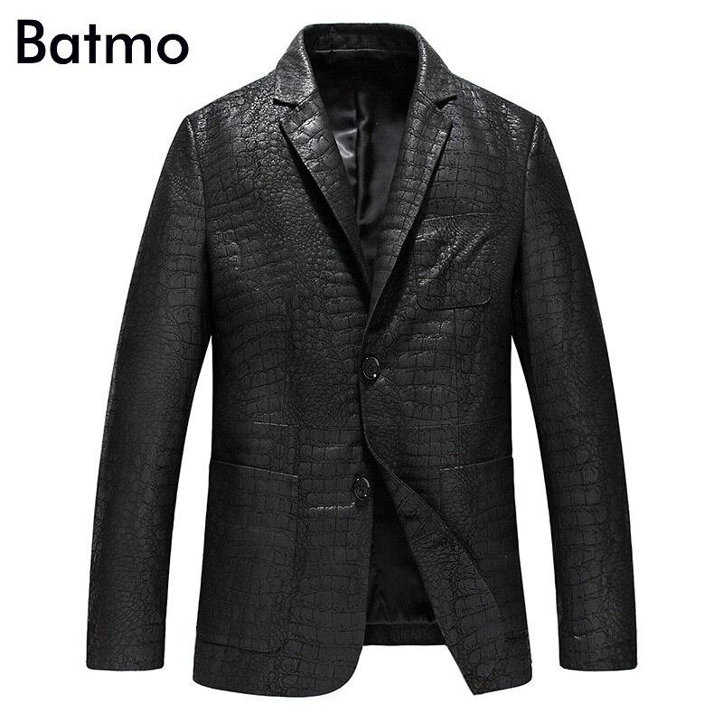Batmo 2019 nieuwe collectie lente hoge kwaliteit schapenvacht echt lederen jassen mannen, slim leren blazer mannen maat L 4XL YXG4201A-in Echt ledere jassen van Mannenkleding op  Groep 1
