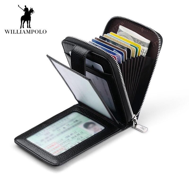 Hommes portefeuilles homme sac à main en cuir véritable portefeuille avec poche à monnaie fermeture à glissière courte porte-carte de crédit portefeuilles Cuzdan affaires Walet