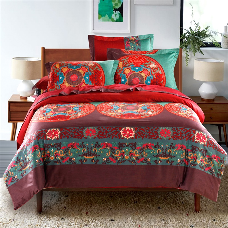 Svetanya 100% Egyptian Cotton Bohemia Bedding Sets Queen King Size Bedlinen Boho moroccan Style Quilt Cover Set