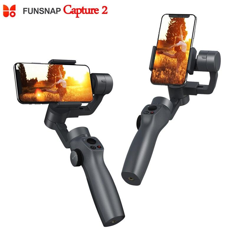 2019 nouveau Funsnap Capture 2 3 axes poignée de téléphone stabilisateur de cardan steadicam pour Smartphone VS Zhiyun lisse 4 Feiyu Vimble 2
