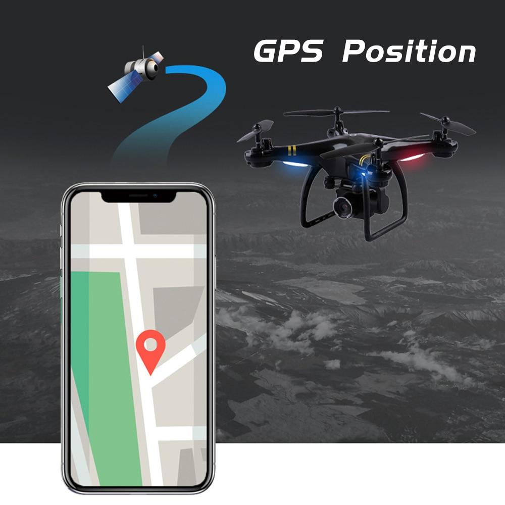 Image 3 - Gps Дроны с камерой HD Wi Fi Дрон с камерой высота удержания Следуйте за мной Радиоуправляемый квадрокоптер камера Дрон с безголовым режимом игрушки для детей # E-in RC-вертолеты from Игрушки и хобби