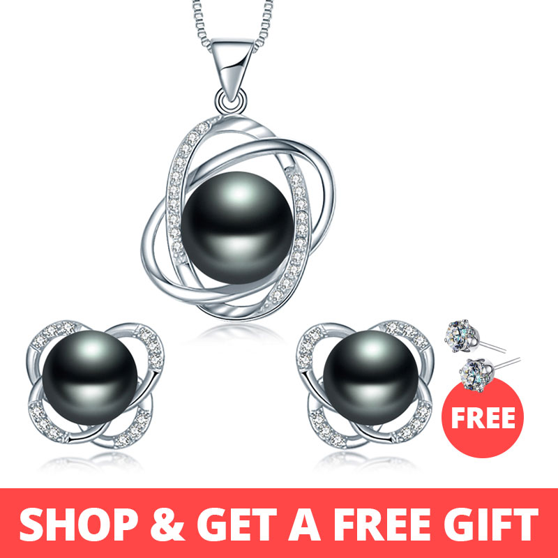 Dainashi 2018 Top Quality Trendy Cross 925 Sterling Silver Jewelry Sets Pendant Necklace & Earring  Pearl Pendant EarringsDainashi 2018 Top Quality Trendy Cross 925 Sterling Silver Jewelry Sets Pendant Necklace & Earring  Pearl Pendant Earrings