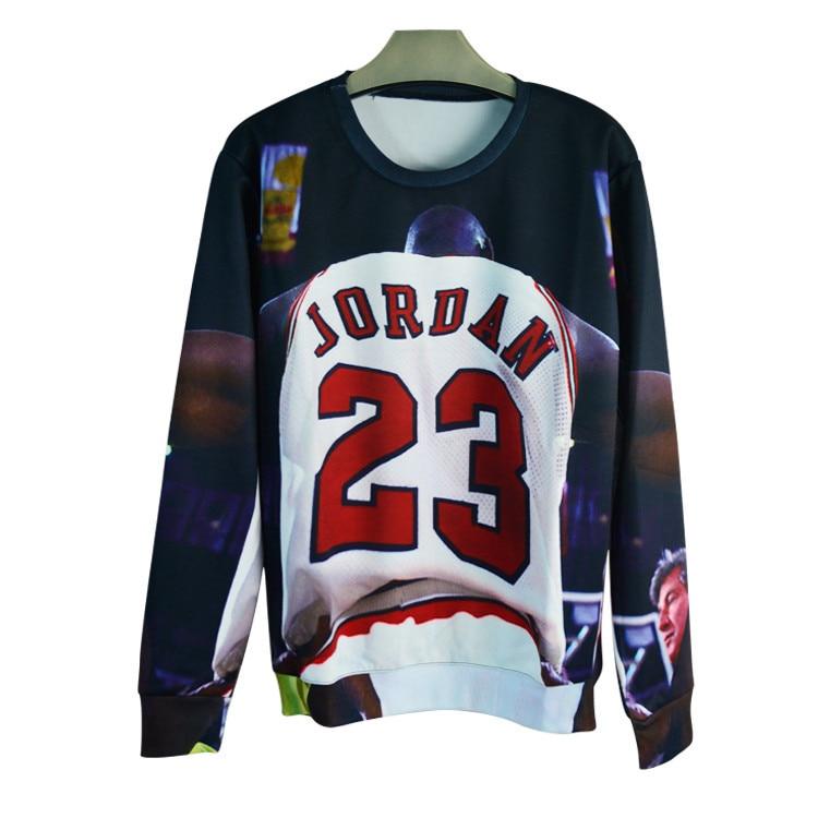 Factory men women s 3D pullover hoodies print color painting Jordan  sweatshirt long sleeve crewneck casual sweat shirt YF075 accebdf82