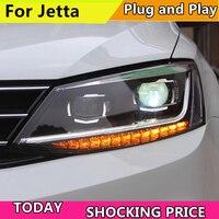 Стайлинга автомобилей фар для VW Jetta светодио дный Фара 2011 2017 VW Jetta светодио дный днем ходовые огни светодио дный DRL Би ксеноновые