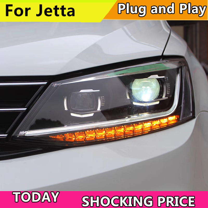 Car Styling Headlight for For VW Jetta LED Headlight Head Lamp 2011-2017 VW Jetta LED Daytime Running Light LED DRL Bi-Xenon HID цены