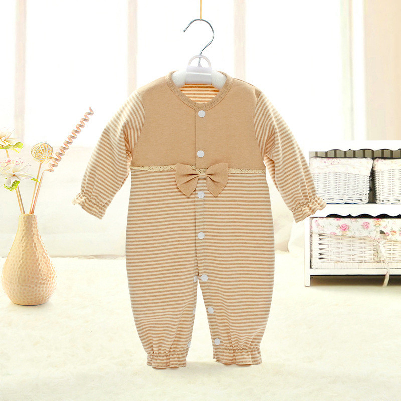 2017 newborn infant baby girl romper clothings full sleeve baby boy rompers striped patchwork bowknot kids new born clothes newborn baby rompers baby clothing 100% cotton infant jumpsuit ropa bebe long sleeve girl boys rompers costumes baby romper