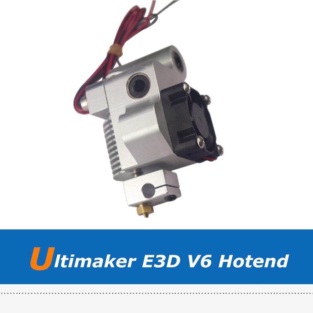 3D Printer Accessory Ultimaker 1 Full-Metal E3D V6 Print Head Set For 1.75mm/3mm Filament цена