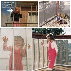 Дети утолщение ограждения защиты чистая балкон ребенок забор ограждение для безопасности ребенка Детская безопасность для балкон