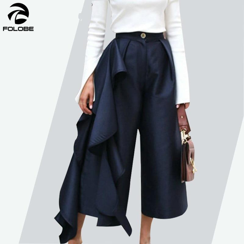 Femme taille haute Floral Imprimé Palazzo Femmes Grande Taille Jambe Large Pantalon Pantalon
