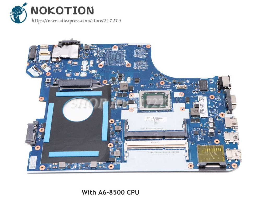 NOKOTION 01AW115 BE565 NM-A631 MAIN BOARD For Lenovo Thinkpad E565 Laptop Motherboard A6-8500 CPU DDR3