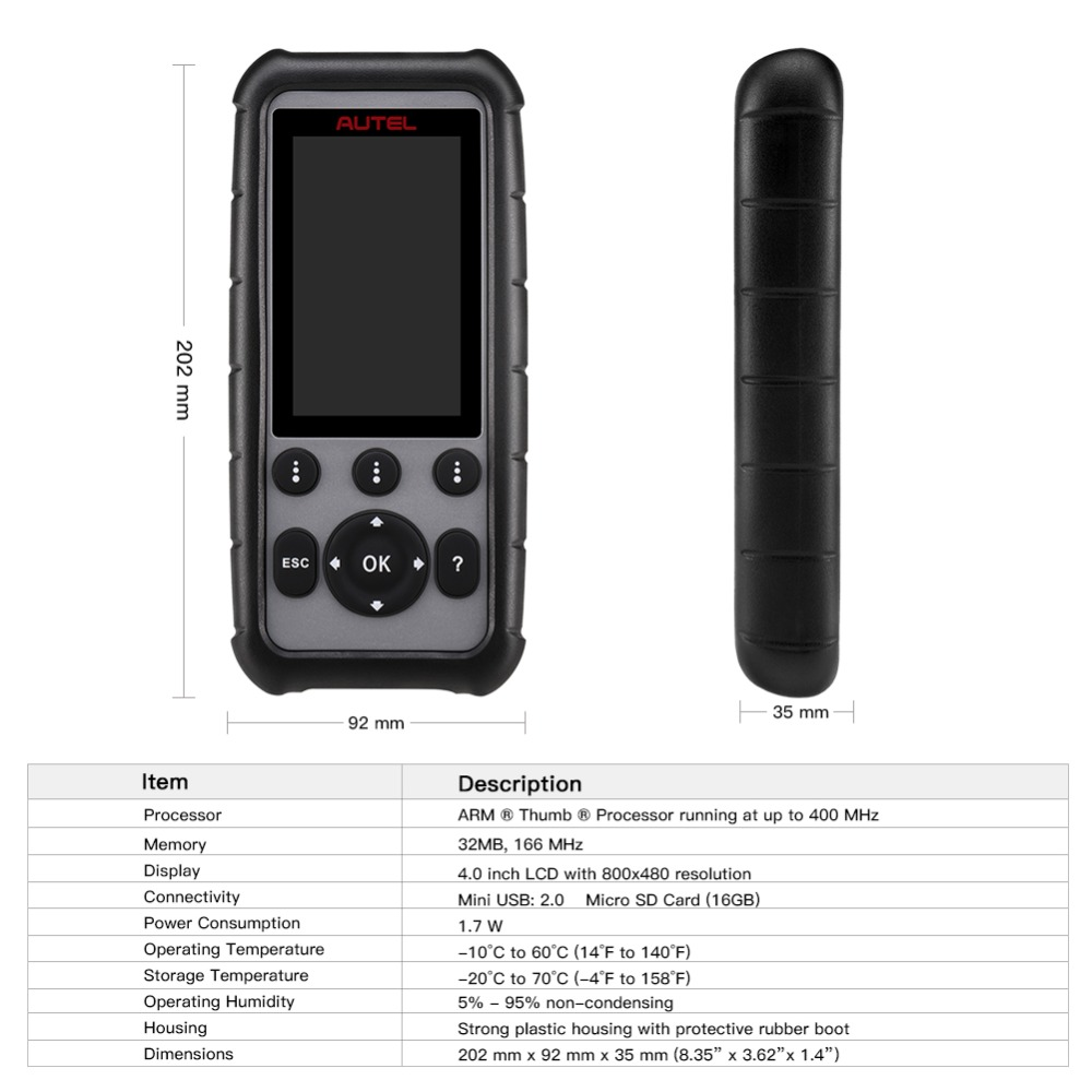 Image 4 - Autel MaxiDiag MD806 & MD806 Pro OBD2 Scanner Car Automotive Diagnostic Tool Auto Code Reader OBDII OBD Scan Tool pk MD802 MD805-in Code Readers & Scan Tools from Automobiles & Motorcycles