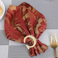 12/PCS hot style letter G napkin ring paper towel ring wedding napkin ring decoration