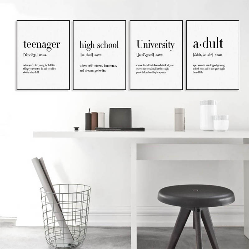 LZN Modern Typography Office Life Quotes Art Print Poster Nordic Living Wall Picture Chemistry gift Canvas Painting image