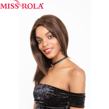 Miss Rola Hair Brazilian 100% Hair straight  Human Hair Wigs For Black Women lace wigs #2/4 Free Shipping
